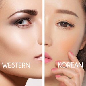 Korean VS Western Makeup - Blush vs Highlighter