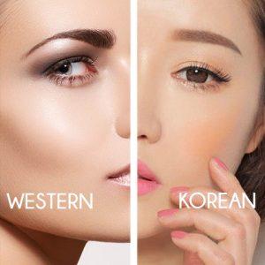 Korean VS Western Makeup - Blush vs Highlighter