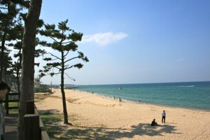 Travel destinations in Korea- beach-ocean