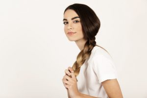 korean tips to style hair for work-braid