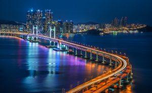 Travel destinations in Korea-busan-beach-bridge