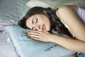 flawless skin after summer-woman-sleeping